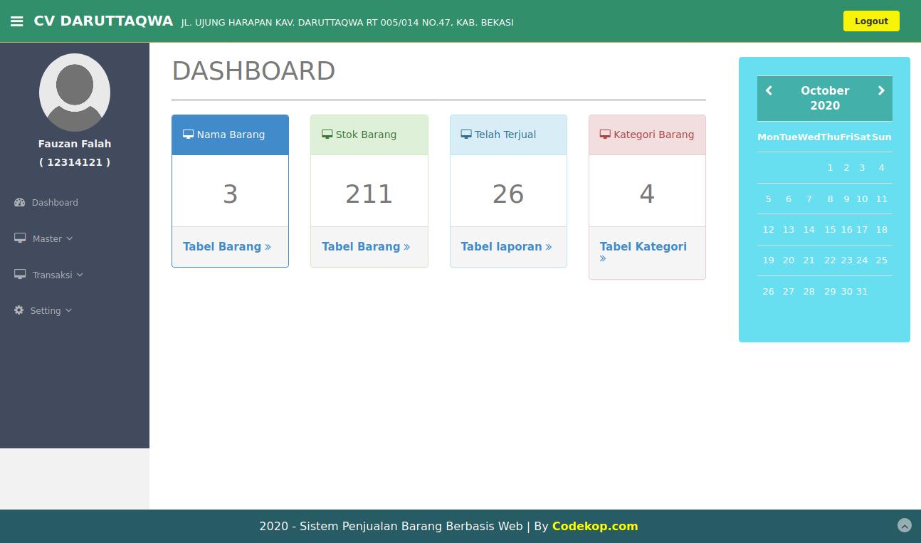 Source Code Aplikasi Penjualan Barang Kasir dengan PHP & MYSQL [Gratis]