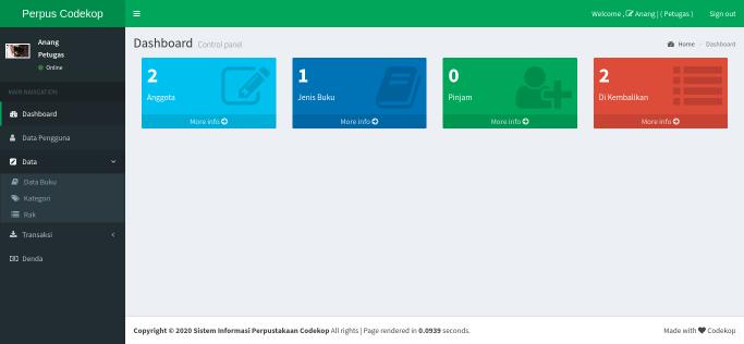 Source Code Sistem Informasi Perpustakaan dengan CodeIgniter 3